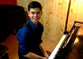 Brandon King after his successful recital in preparation for his HSC Examination - June 2013