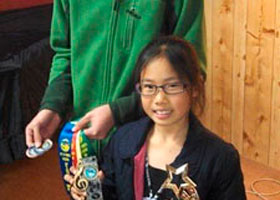Phillip and Jessie Kristyono with their prizes from the Penrith Eisteddfod July 2013.