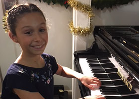 Megan Buhagiar following her wonderful performance Christmas Concert 2018