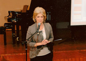 Suzanne presenting at the World Piano Conference Novi Sad Serbia August 2010.