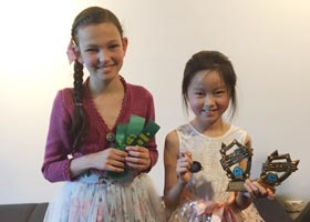 L. To R. Zara Eade and Sienna Li with their awards from Penrith Eisteddfod 2017